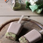 Cauliflower and Chocolate Ice Lollies with Pistachio Dust