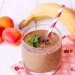 chocolate and hazelnut green smoothie